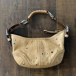 Small Coach Tan Leather Shoulder Bag